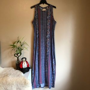 Xhileration Patterned Maxi Dress Sz XXL